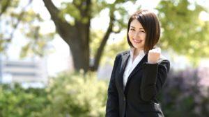 転職先でモチベーション高く頑張る女性社員