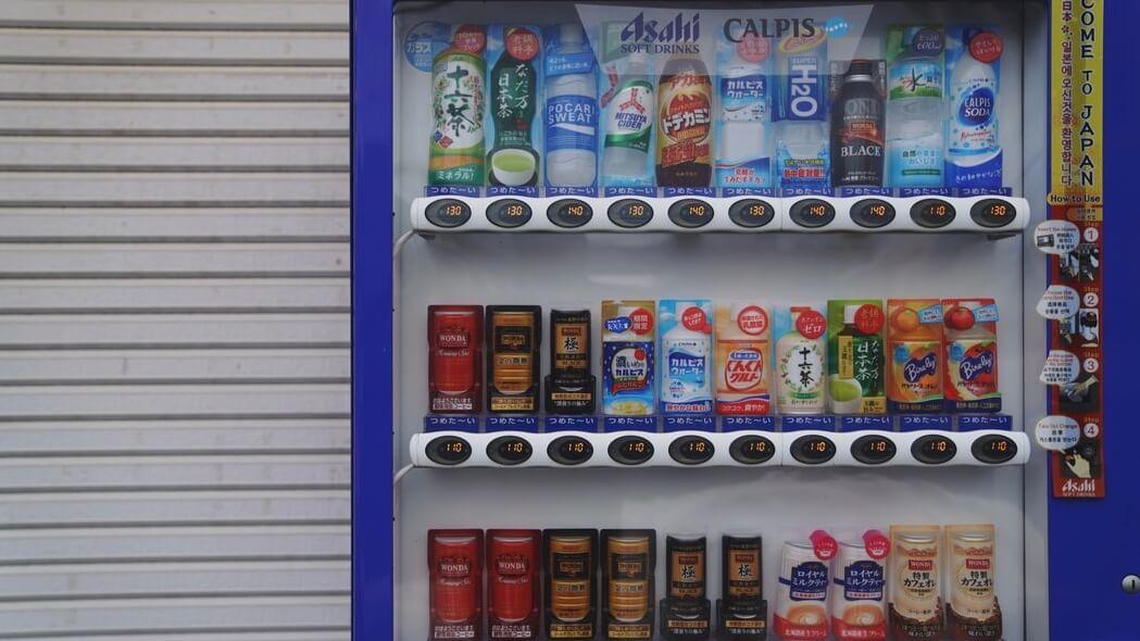 自動販売機の補充