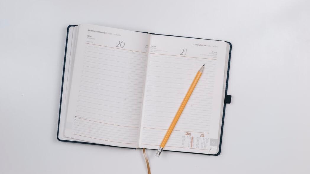 計画を整理するスケジュール帳の使い方